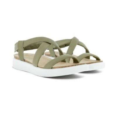 エコー レディース サンダル シューズ Women's Corksphere Ankle-Strap Slingback Sandals Vetiver