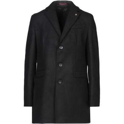LIU •JO MAN コート ブラック 52 ポリエステル 80% / レーヨン 18% / ポリウレタン 2% コート