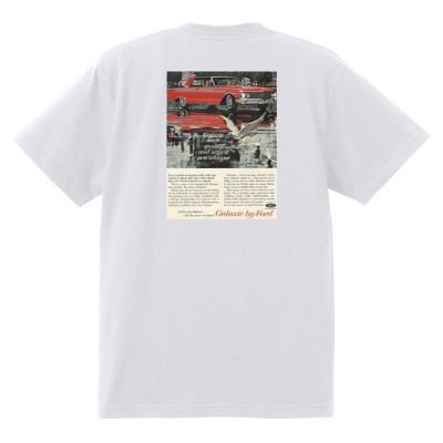 アドバタイジング フォード 810 白 Tシャツ 黒地へ変更可 1962 サンダーバード ギャラクシー ファルコン フェアレーン ランチェロ f100