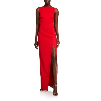 ライクリー レディース ワンピース トップス Pavlina Bateau-Neck Sleeveless Side Slit Column Gown