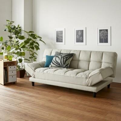 家具 収納 ソファー リクライニングソファー くつろぎ方は自由自在!4WAYソファベッド 幅170cm 570806