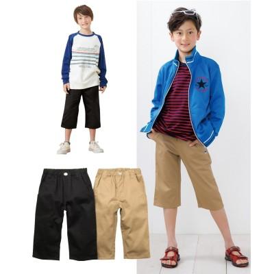 カラーがいろいろある6分丈ツイルパンツ2枚組(男の子 子供服・ジュニア服) パンツ, Kids' Pants