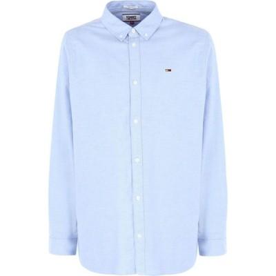 トミー ジーンズ TOMMY JEANS メンズ シャツ トップス solid color shirt Sky blue