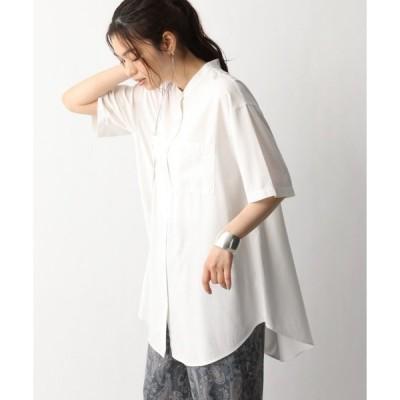 シャツ ブラウス サラサラバンドシャツ半袖/932269