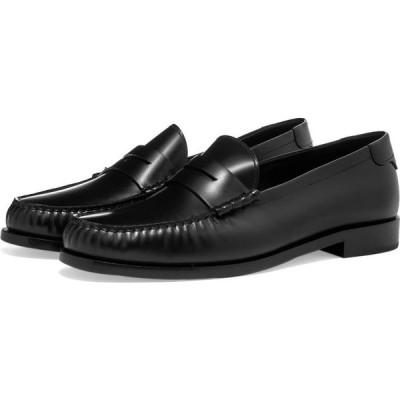 イヴ サンローラン Saint Laurent メンズ ローファー シューズ・靴 leather loafer Black