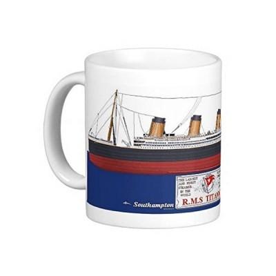 タイタニック号のマグカップ:フォトマグ(世界の客船シリーズ) (Aタイプ)