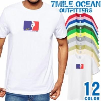 メンズ Tシャツ 半袖 プリント アメカジ 大きいサイズ 7MILE OCEAN ストリート オモシロ