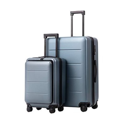 COOLIFE Luggage Suitcase Piece Set Carry On ABS+PC Spinner Trolley with pocket Compartmnet Weekend Bag(Night navy, 2-piece Set)【並行輸