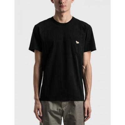 メゾン キツネ Maison Kitsune メンズ Tシャツ ポケット トップス profile fox patch pocket t-shirt Black