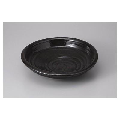 盛り鉢 黒釉9.0渦深丼 27.5cm 和食器 業務用 ボウル 美濃焼9a361-7-22g