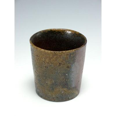 黒田儀男 備前窯変焼酎カップ(ロックカップ)