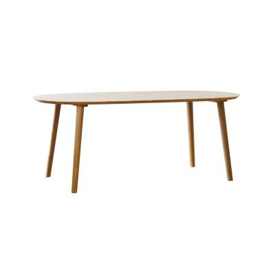 【受注生産】ホワイトオーク材の楕円形ダイニングテーブル(日本製)(TAKANO MOKKOU)