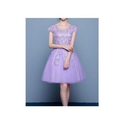 ドレス レース刺繍 リボン プリンセス 結婚式 ウェディング