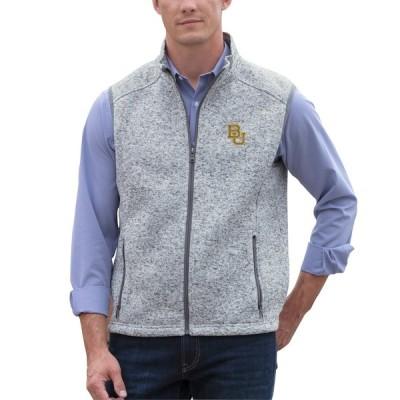 """メンズ ジャケット """"Baylor Bears"""" Summit Fleece Sweater Vest - Heather Gray"""
