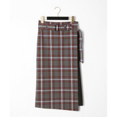チェック2wayタイトスカート
