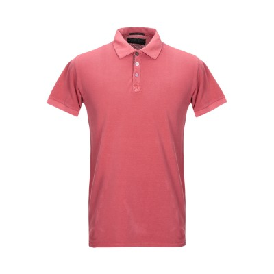 SMILING LONDON ポロシャツ コーラル S コットン 100% ポロシャツ