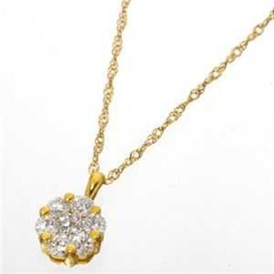 K18YG インビジブルセッティングダイヤモンド ゴールド ネックレス