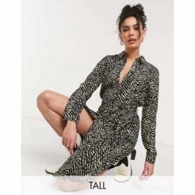 ヴェロモーダ Vero Moda Tall レディース ワンピース シャツワンピース ワンピース・ドレス Midi Shirt Dress In Animal Print マルチカ