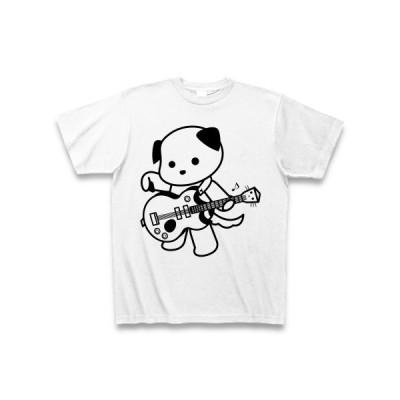 エレキギターといぬ Tシャツ(ホワイト)