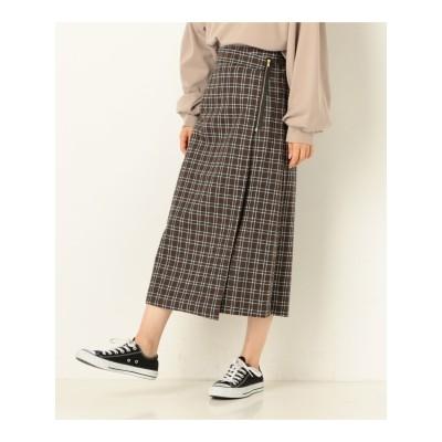 チェックラップスカート