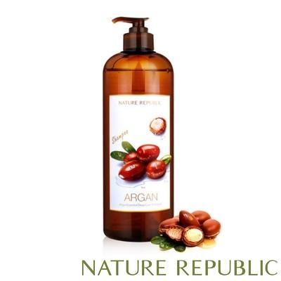[ネイチャーリパブリック]大容量1000ml★さらさらヘアにケアアルガンエッセンシャルディープケアヘアシャンプー・Nature republic Argan Hair Care Shampoo