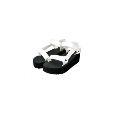 厚底スポーツサンダル・Ladys ホワイト・M 81243