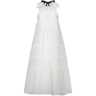 ロシャス ROCHAS 7分丈ワンピース・ドレス ホワイト 38 シルク 100% 7分丈ワンピース・ドレス