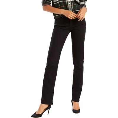 リーバイス カジュアルパンツ ボトムス レディース Levi's Women's Classic Straight Fit Jeans Soft Black