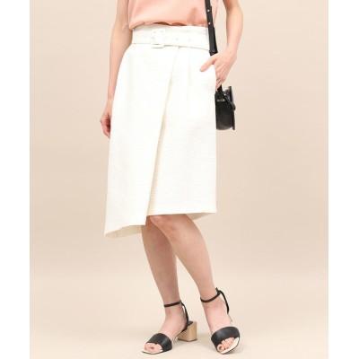 【ロペ】 アシンメトリーラップスカート レディース ホワイト 38 ROPE'