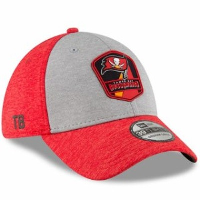 New Era ニュー エラ スポーツ用品  New Era Tampa Bay Buccaneers Heather Gray/Red 2018 NFL Sideline Road Official 39THI