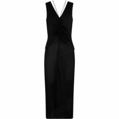 ヘルムート ラング Helmut Lang レディース ワンピース ミドル丈 ワンピース・ドレス Scala jersey midi dress Basalt Black