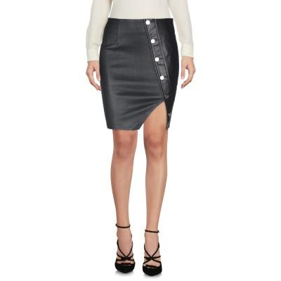 アールティーエー RTA ひざ丈スカート ブラック 2 羊革(ラムスキン) 100% ひざ丈スカート