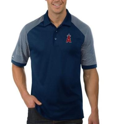 メンズ スポーツリーグ メジャーリーグ Antigua Men's Los Angeles Angels Engage Navy Polo Tシャツ