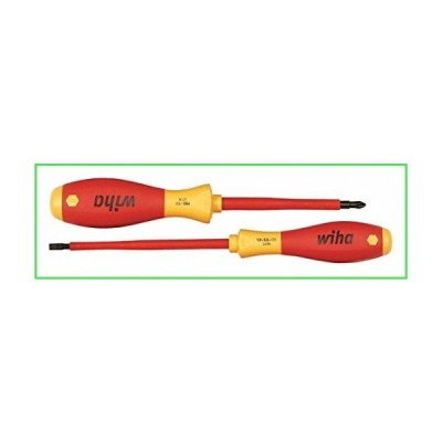 Wiha 32105 Insulated 5.5mm Slotted + #2 Phillips Screwdriver Set by Wiha Tools