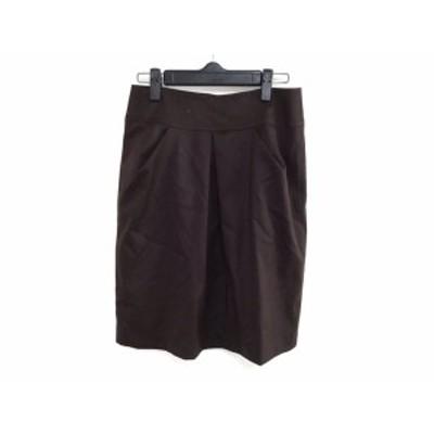 ニジュウサンク 23区 スカート サイズ38 M レディース ダークブラウン【中古】