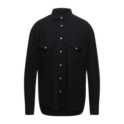 TINTORIA MATTEI 954 シャツ ブラック XXL コットン 80% / ウール 20% シャツ