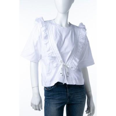 ディーゼル Tシャツ 半袖 丸首 クルーネック TORMET TOP レディース 00SYZP BGGDP ホワイト DIESEL