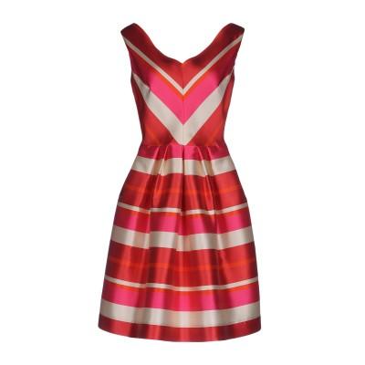 CLIPS ミニワンピース&ドレス レッド 42 ポリエステル 84% / シルク 16% ミニワンピース&ドレス