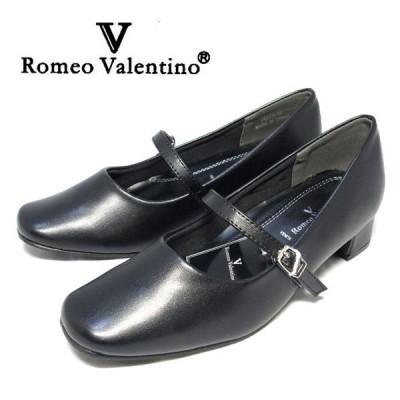 【全1色】Romeo Valentino ワンストラップフォーマルパンプス BLACK 【フォーマル】【オフィス】【冠婚葬祭】【セール】