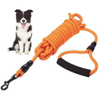 アーモンド 犬 リード ナイロン製 犬リード ロングリード 小・中型犬 犬のリード トレーニングリード お出かけ 夜間散歩 噛み切れ防止 EVA 持ち