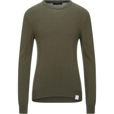 エクステ EXTE メンズ ニット・セーター トップス Sweater Military green