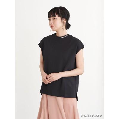 アースミュージックアンドエコロジー earth music&ecology KISS TOKYO フレンチスリーブTシャツ (Black)