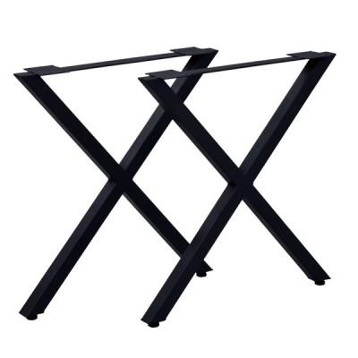 テーブル脚 2個組 高さ67cm テーブルキッツ X型 アイアン アジャスター DIY テーブル 脚 ( ダイニングテーブル デスク パーツ 脚のみ )