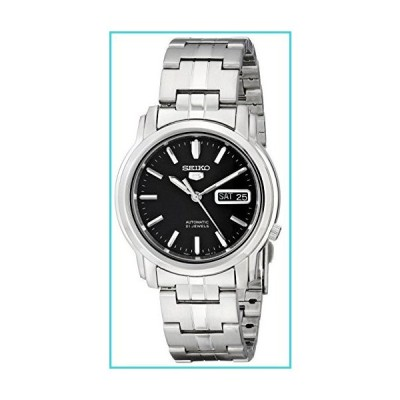Seiko Men's SNKK71 Seiko 5 Automatic Stainless Steel Watch with Black Dial【並行輸入品】