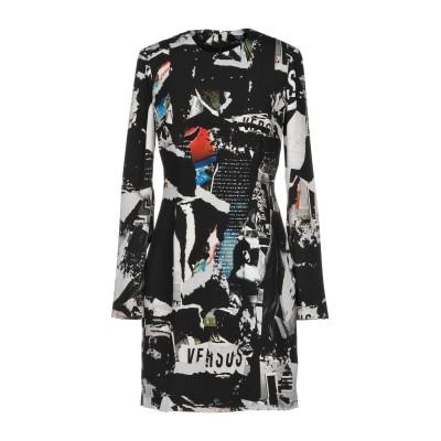 VERSUS VERSACE ミニワンピース&ドレス ブラック 38 ポリエステル 100% ミニワンピース&ドレス