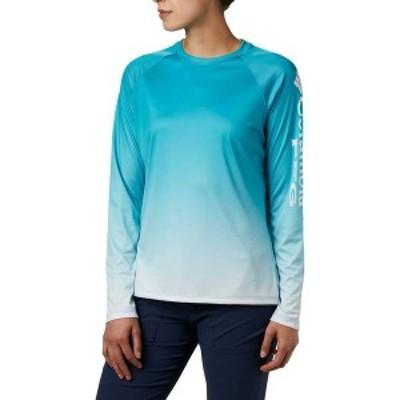 コロンビア レディース シャツ トップス Columbia Women's Super Tidal Long Sleeve Shirt Clear Water Gradient