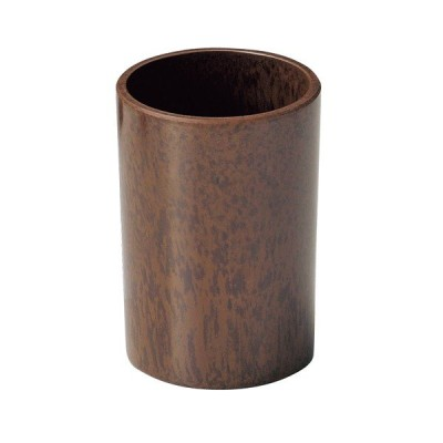 樹脂製 ナフキン立て 丸 ブラウン M40-110