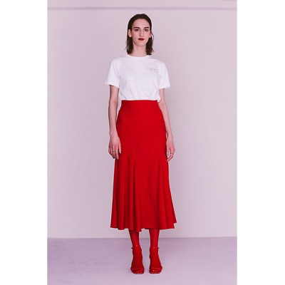 <led.tokyo/レッドトーキョー> MERMAID FRONT SWITCH LONG SKIRT RED【三越伊勢丹/公式】