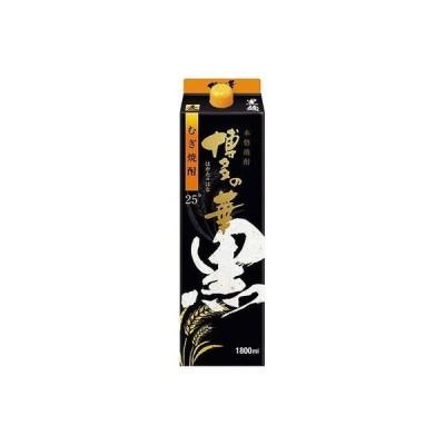 福徳長酒類 株 福徳長 単式25°博多の華 黒麹の麦焼酎 パック 1.8L x1 代引不可