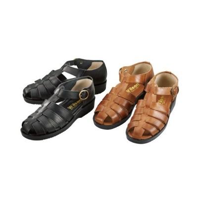 「日本製 紳士牛革サマーシューズ(全2色) サンダル シューズ 靴 メンズ 紳士 シニア 黒 キャメル ブラック ストラップ付き」 p16767